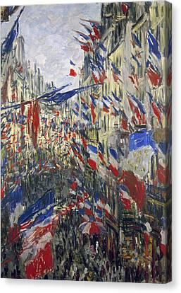 Monet: Montorgeuil, 1878 Canvas Print by Granger