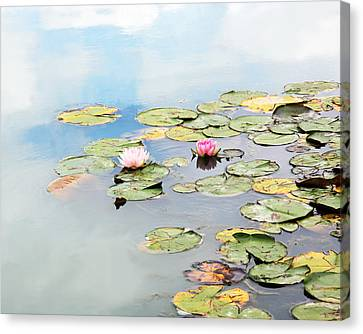 Canvas Print featuring the photograph Monet's Garden by Brooke T Ryan