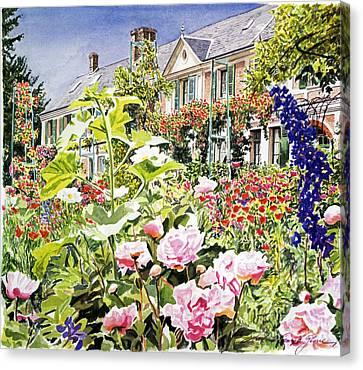 Monet's Garden Giverny Canvas Print by David Lloyd Glover