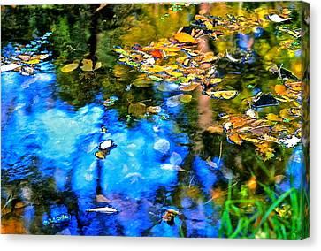 Canvas Print featuring the photograph Monet's Garden by Ira Shander