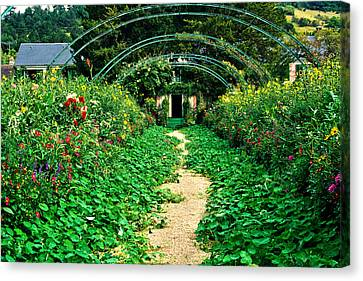 Monet's Gardens At Giverny Canvas Print by Jeff Black