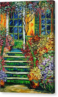 Monet's Giverny Oil Painting Canvas Print by Beata Sasik