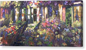 Monet's Home In Giverny Canvas Print by Donna Tuten