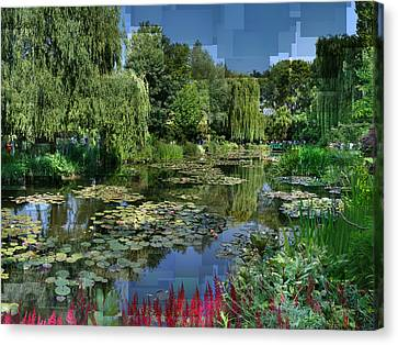 Monet's Lily Pond At Giverny Canvas Print