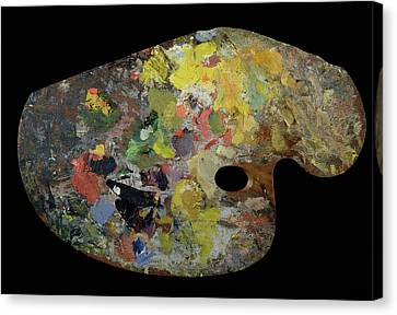 Palette Belonging To Claude Monet Canvas Print by French School