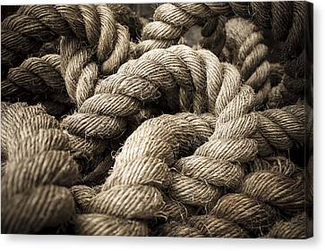 Canvas Print featuring the photograph Money For Old Rope by Stewart Scott