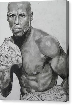 Money Mayweather Canvas Print by Aaron Balderas