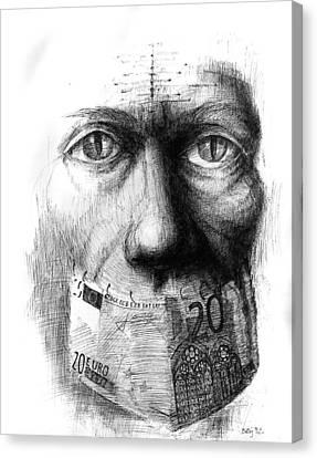 Money Mute Canvas Print by Piotr Betlej
