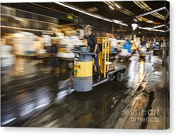 Monger On The Move Canvas Print by Scott Kerrigan