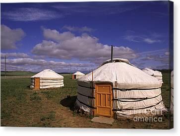 Mongolian Ger House Canvas Print