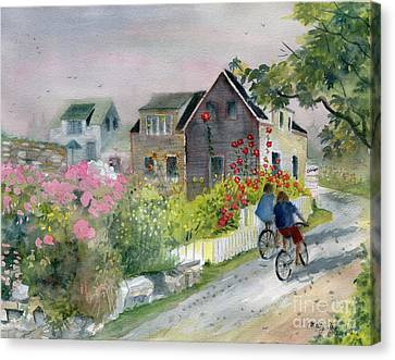 Monhegan In August Canvas Print by Melly Terpening