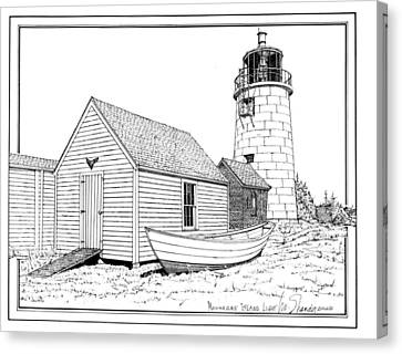 Monhegan Island Light Canvas Print by Ira Shander