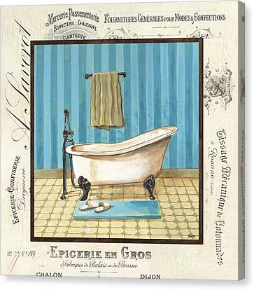 Toilet Canvas Print - Monique Bath 1 by Debbie DeWitt