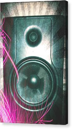 Monitor Speaker - In The Studio Canvas Print by Brian Howard