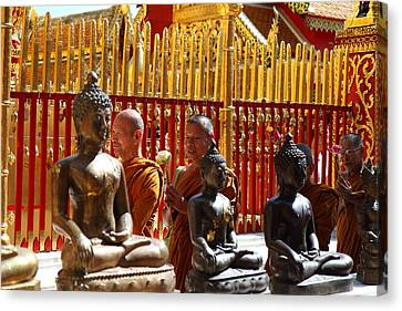 Monk Ceremony - Wat Phrathat Doi Suthep - Chiang Mai Thailand - 01135 Canvas Print