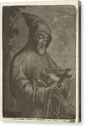 Monk, Possibly Jan Van Der Bruggen Canvas Print by Jan Van Der Bruggen
