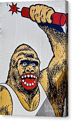 Monkey Around Canvas Print by Ken Williams