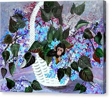 Monkey Busines Canvas Print by Fram Cama
