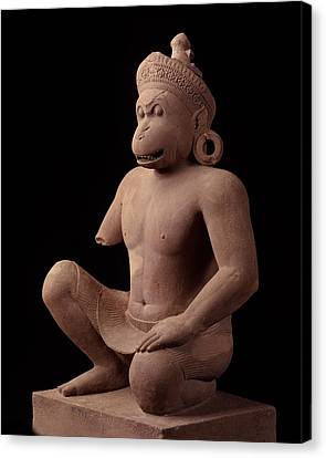Monkey Guardian Figurebantaey Srei, 967 Adnational Museum, Phnom Penh Canvas Print