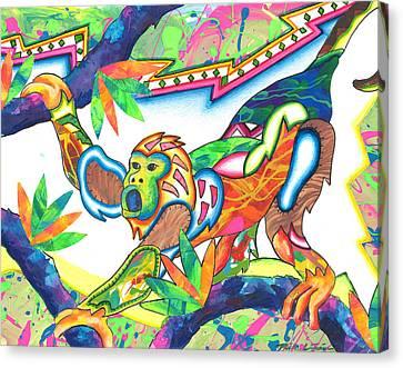 Michael Canvas Print - Machumba - Monkey by Michael Andrew Frain