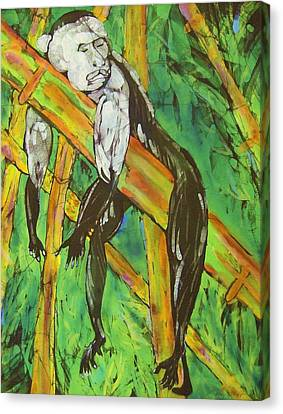 Monkey Nap Canvas Print by Kay Shaffer