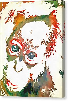 Monkey Pop Art Canvas Print by Catherine Lott