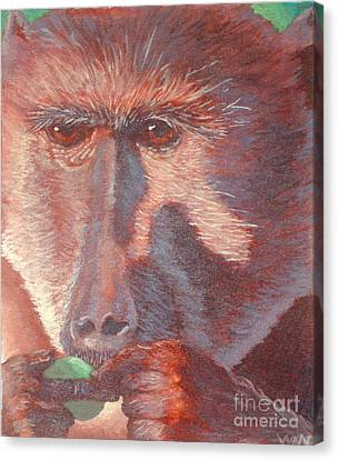Monkey's Lunch Canvas Print by Whitney Morton