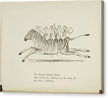 Edition Canvas Print - Monkeys Riding On A Zebra by British Library