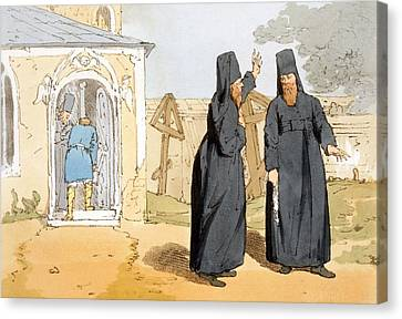 Orthodox Canvas Print - Monks, C.1804 by John Augustus Atkinson