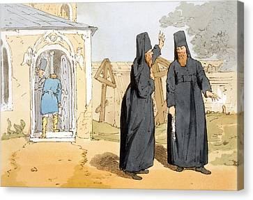 Monks, C.1804 Canvas Print by John Augustus Atkinson