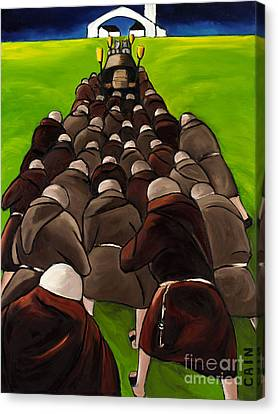 Monks Funeral Canvas Print by William Cain