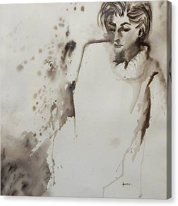 Monochrome Lady Canvas Print