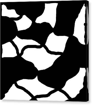 Monochrome New1builder3 Glyph 12 Canvas Print