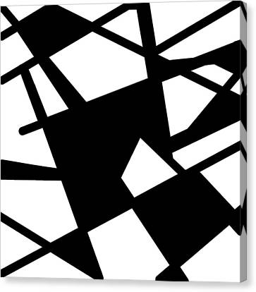 Monochrome New1builder3 Glyph 5 Canvas Print