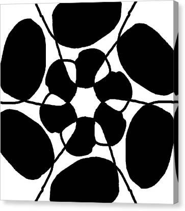 Monochrome New1builder3 Glyph 7 Canvas Print
