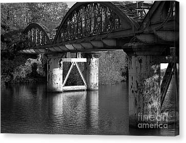 Spooky Viaduct Canvas Print by Hugh Reynolds
