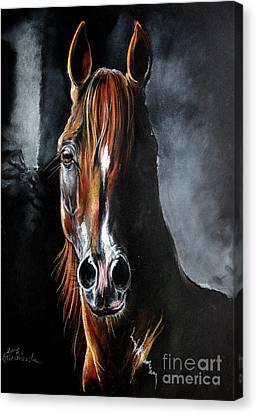 Equine Pastels Canvas Print - Monogramm by Angel  Tarantella
