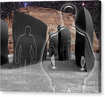Monoliths For The Empty People Canvas Print by Keith Dillon
