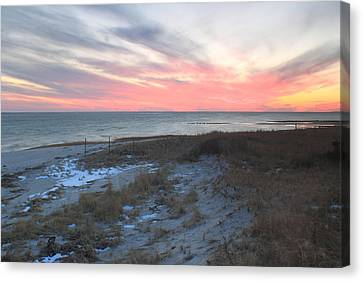 Monomoy National Wildlife Refuge Cape Cod Sunset Canvas Print by John Burk