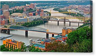 Monongahela Bridges Canvas Print by Frozen in Time Fine Art Photography