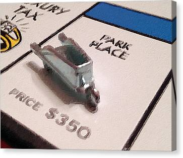 Monopoly Board Custom Painting Park Place Canvas Print by Tony Rubino