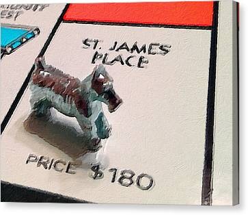 Monopoly Board Custom Painting St James Place Canvas Print by Tony Rubino
