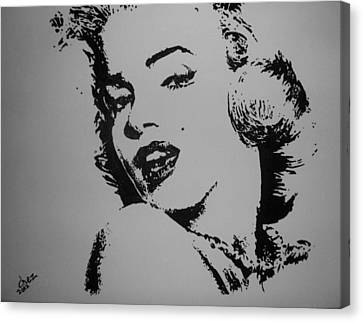 Canvas Print featuring the painting Monroe by Cherise Foster