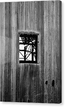 Canvas Print featuring the photograph Monroe Co. Michigan Barn Window by Daniel Thompson