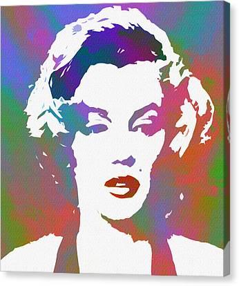 Monroe Goes Pop Canvas Print by Steve K