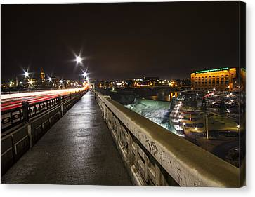 Monroe Street View - Spokane Canvas Print by Mark Kiver