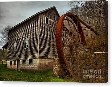 Monroe West Virginia Grist Mill Canvas Print by Adam Jewell