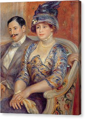 Monsieur Et Madame Bernheim De Villers, 1910 Oil On Canvas Canvas Print by Pierre Auguste Renoir