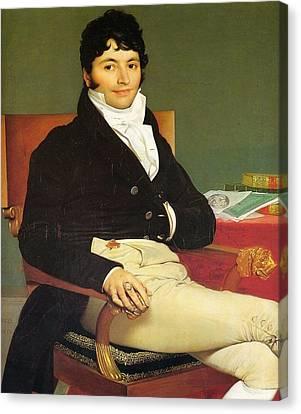 Monsieur Riviere Canvas Print by Jean-Auguste-Dominique Ingres