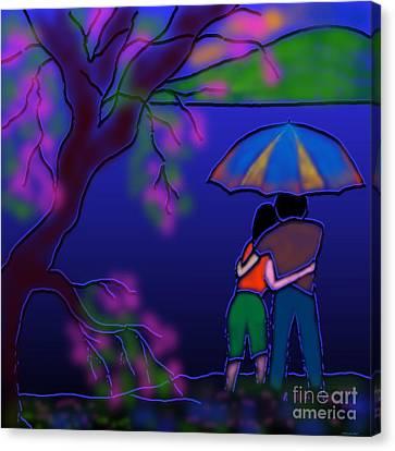 Monsoon Canvas Print by Latha Gokuldas Panicker
